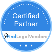 Find Legal Vendors certified partner badge